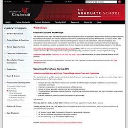 Workshops, University of Cincinnati