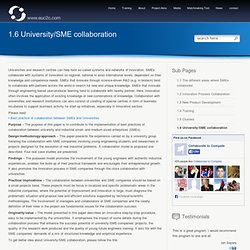 University/SME collaboration