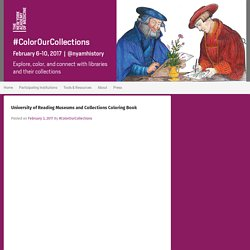 University of Reading Museums and Collections Coloring Book – #Color Our Collections