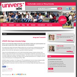 Univers: UPDATE: Wel of geen University College
