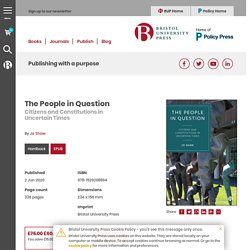 06.20 The People in Question - Citizens and Constitutions in Uncertain Times, By Jo Shaw