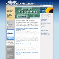 University of Wisconsin - Cooperative Extension 4H