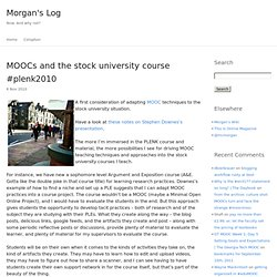 MOOCs and the stock university course #plenk2010