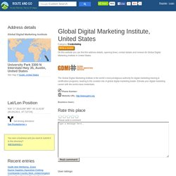 Global Digital Marketing Institute University Park 3300 N Interstate Hwy 35