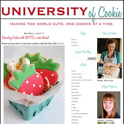 University of Cookie: Decorating Cookies with DOTS! a video tutorial