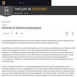 University of Alabama desegregated - Jun 11, 1963