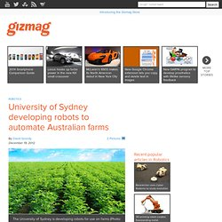 University of Sydney developing robots to automate Australian farms