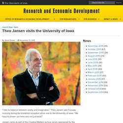 Theo Jansen visits the University of Iowa