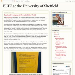 ELTC at the University of Sheffield: Teacher Development Down (in?) the Toilet