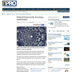 Oxford University develops nanotrains