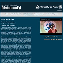 University for Peace Distance Education