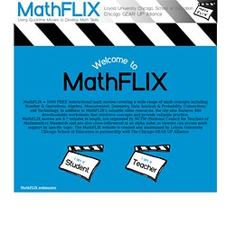 Welcome to Loyola University Chicago, School of Education | NCTM Math Videos | | MathFLIX.luc.edu