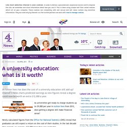 A university education: what is it worth?