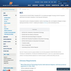M.E.T. - Boise State University - Educational Technology