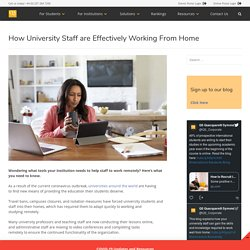 How University Staff are Effectively Working From Home - QS