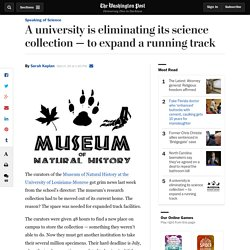 A university is eliminating its science collection — to expand a running track