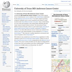 University of Texas MD Anderson Cancer Center