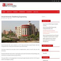 Ansal University- Redefining Engineering