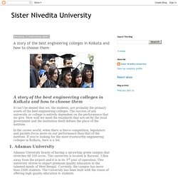 Sister Nivedita University: A story of the best engineering colleges in Kolkata and how to choose them