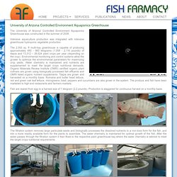 Fish Farmacy, LLC - University of Arizona Controlled Environment Aquaponics Greenhouse