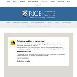 Course Workload Estimator — Rice University Center for Teaching Excellence