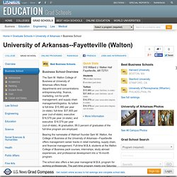 University of Arkansas--Fayetteville (Walton) | Best Business School