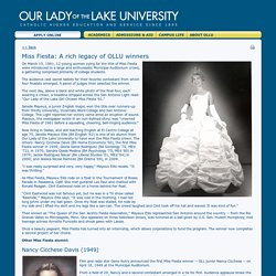 Our Lady of the Lake University - Miss Fiesta: A rich legacy of OLLU winners