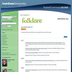 Utah State University Folklore Series