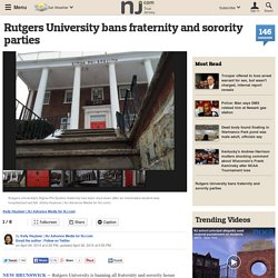 Rutgers University bans fraternity and sorority parties
