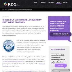 Drexel University Wins CASE Award for Higher Education Fundraising