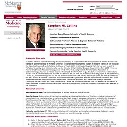 University Department of Medicine >> Division of Gastroenterology >> Faculty Member Stephen Collins