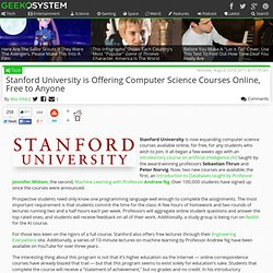 Stanford Offers Online Computer Science Courses Free to All