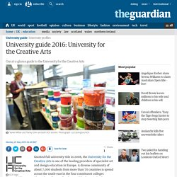 University guide 2016: University for the Creative Arts