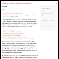 Lancaster University Digital Humanities Hub