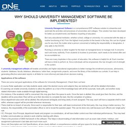 Why should university management software be implemented?
