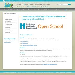 The University of Washington Institute for Healthcare Improvement Open School