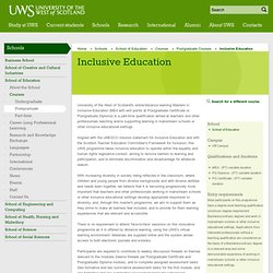 UWS - University of the West of Scotland - Inclusive Education