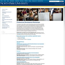 Workshop Overview - North Park University - Christian, Urban, Intercultural