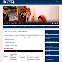 The University of Maine - International Programs - Study Abroad Mentors