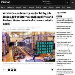 Australia's university sector hit by job losses, fall in international students and Federal Government reform — so what's next? - ABC News