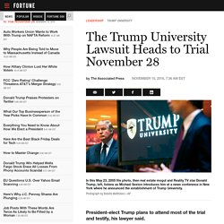 The Trump University Lawsuit Heads to Trial November 28