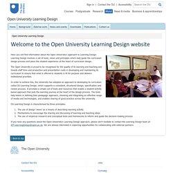 Open University Learning Design