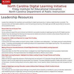 NC Digital Learning Initiative