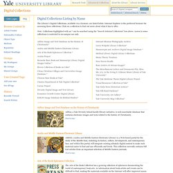 University Library: Digital Collections