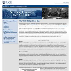 University School Literacy and Culture
