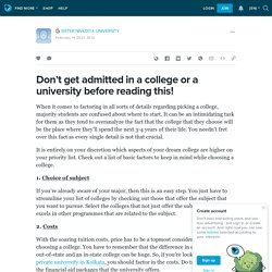 Don't get admitted in a college or a university before reading this!: ext_5670668 — LiveJournal