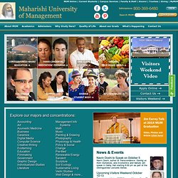 Maharishi University of Management: Consciousness-Based Education