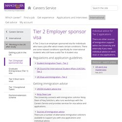 Tier 2 Employer sponsored visa (The University of Manchester)