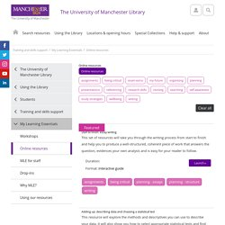 Online resources (The University of Manchester Library)