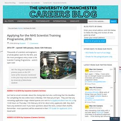NHS – University of Manchester Careers Blog